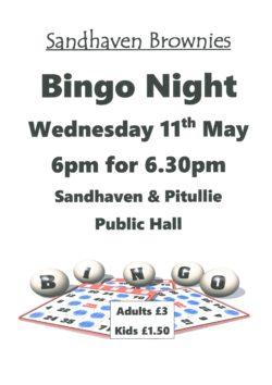 Bingo Night @ Sandhaven & Pitulliie Hall