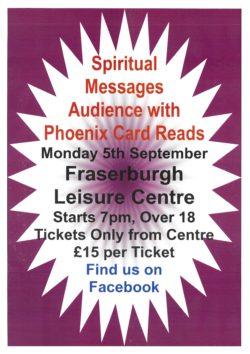 Spiritual Messages @ Fraserburgh Leisure Centre