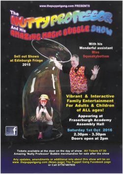 The Nutty Professor and his amazing magic bubble show @ Fraserburgh Academy Assembly Hall | Fraserburgh | Scotland | United Kingdom