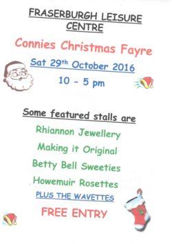 Connies Christmas Fayre @ Leisure Centre   Fraserburgh   Scotland   United Kingdom