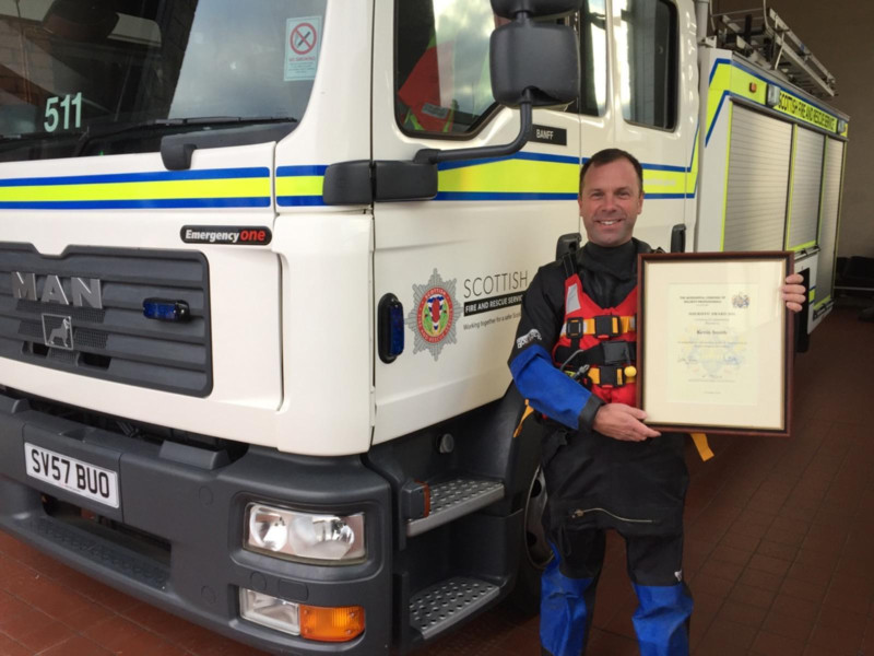 Crew Manager Kevin Smith raced to the scene after being alerted to the emergency at Macduff Harbour.