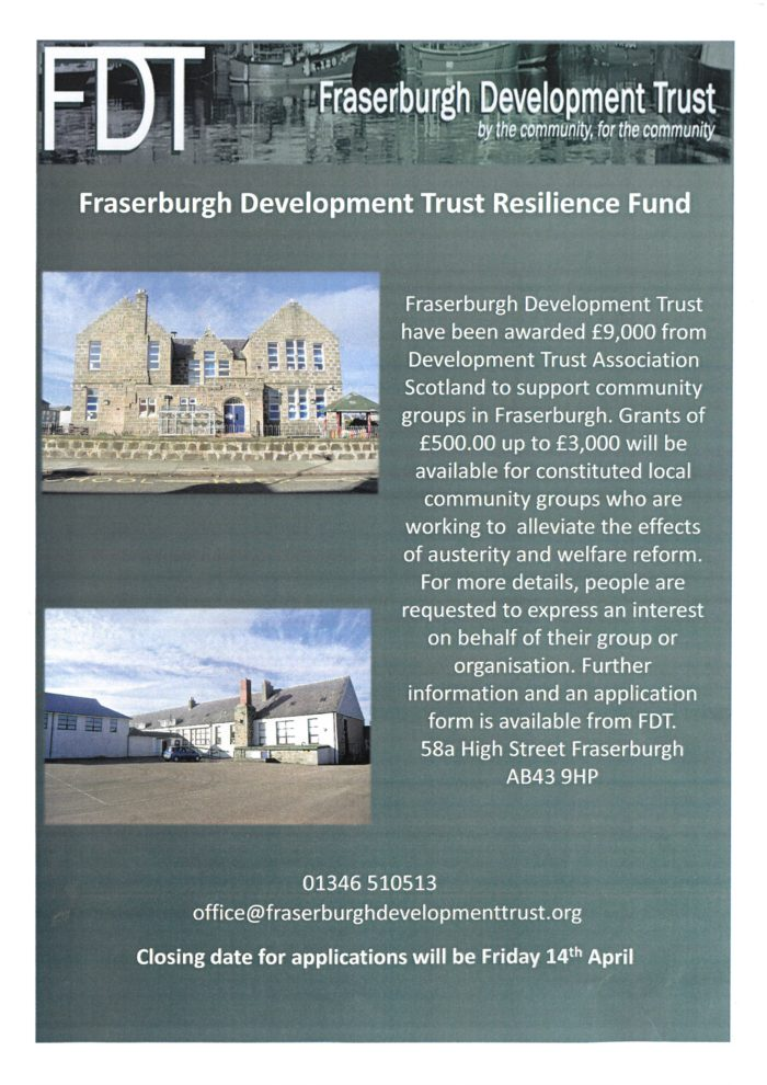Fraserburgh Development Trust Resilient Fund @ Fraserburgh Development Trust,  | Scotland | United Kingdom