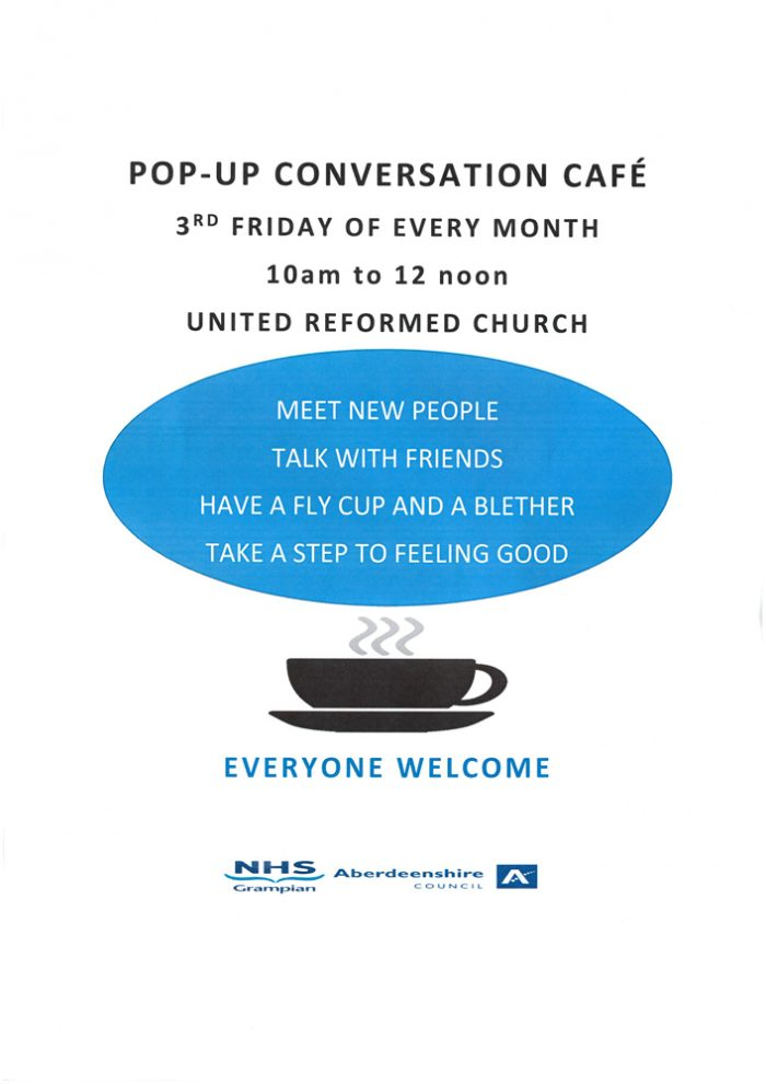 Pop-Up Conversation Cafe @ United Reformed Church   Fraserburgh   Scotland   United Kingdom