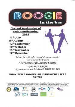 Boogie in the Bar invite @ Leisure Centre   Fraserburgh   Scotland   United Kingdom