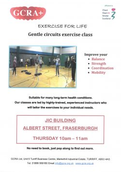 Exercise for Life - Gentle Circuits exercise class. @ JIC Building | Scotland | United Kingdom