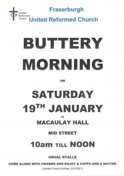 Fraserburgh United Reformed Church Buttery Morning @ Macaulay hall, Mid Street