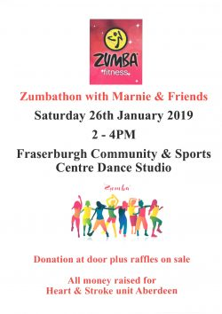 Zumbathon with Marnie and Friends @ Frsaerburgh Community and Sports Centre Dance Studio